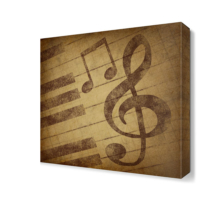 Dekor Sevgisi Piyano Tuşları Canvas Tablo 40x40 cm