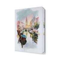 Dekor Sevgisi Kayık Şehir Tablosu 45x30 cm