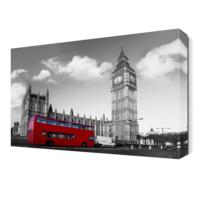 Dekor Sevgisi Kırmızı Otobüs Canvas Tablo 45x30 cm