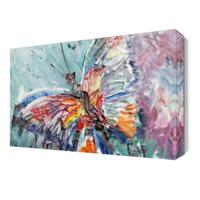 Dekor Sevgisi Yağlı Boya Kelebek Tablosu 45x30 cm