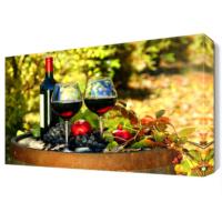 Dekor Sevgisi Şarap Üzüm ve Nar Canvas Tablo 45x30 cm
