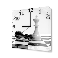 Dekor Sevgisi Satranç ve Saat Tablosu 45x30 cm