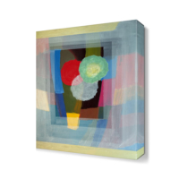Dekor Sevgisi Renkli Üç Daire Tablosu 45x30 cm