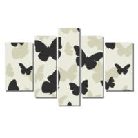 Dekor Sevgisi Siyah Kelebekler 3 Tablosu 84x135 cm