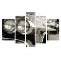 Dekor Sevgisi Araba Farları Tablosu 84x135 cm