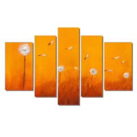 Dekor Sevgisi Turuncu Karahindiba Tablo 84x135 cm