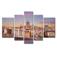 Dekor Sevgisi Galata Kulesi İstanbul Manzara Tablosu 84x135 cm