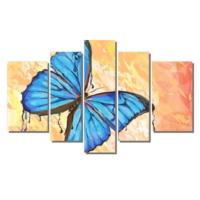 Dekor Sevgisi Mavi Kelebek 2 Tablosu 84x135 cm