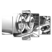 Dekor Sevgisi Siyah Beyaz Cadillac Tablosu 84x135 cm