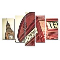 Dekor Sevgisi Londra Telephone Tablosu 84x135 cm