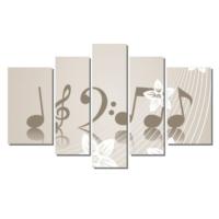 Dekor Sevgisi Müzik Notalar Tablosu 84x135 cm