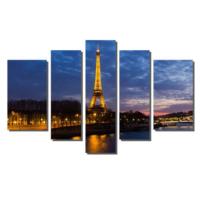 Dekor Sevgisi Işıklı Eyfel Kulesi Tablosu 84x135 cm