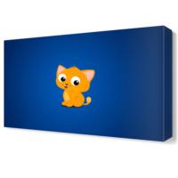 Dekor Sevgisi Sevimli Oyuncak Kedi Canvas Tablo 45x30 cm