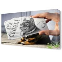 Dekor Sevgisi Komik Köpek Canvas Tablo 45x30 cm