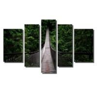 Dekor Sevgisi Ağaçların Arasındaki Köprü Tablosu 84x135 cm