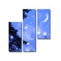 Dekor Sevgisi 3 Parçalı Mavi Gökyüzü Tablosu 100x100 cm