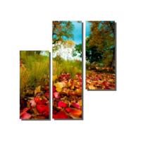 Dekor Sevgisi 3 Parçalı Sonbahar Yaprakları 80x80 cm