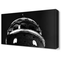 Dekor Sevgisi Galata Kulesi Siyah Beyaz Canvas Tablo 45x30 cm