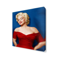 Dekor Sevgisi Marilyn Monroe Kırmızı Elbise Canvas Tablo 45x30 cm