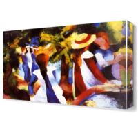 Dekor Sevgisi August Macke Şapkalı Kadın Tablosu 45x30 cm