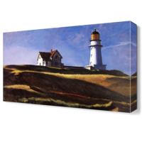 Dekor Sevgisi Deniz Feneri ve Ev Canvas Tablo 45x30 cm