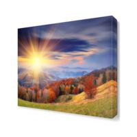 Dekor Sevgisi Dağ ve Güneş Canvas Tablo 40x40 cm