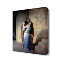 Dekor Sevgisi Öpücük2 Canvas Tablo 45x30 cm
