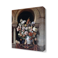 Dekor Sevgisi Harem Penceresinde Çiçek Canvas Tablo 45x30 cm
