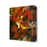 Dekor Sevgisi Franz Marc Tilkiler Canvas Tablo 45x30 cm