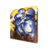 Dekor Sevgisi Franz Marc Mavi Atlar Canvas Tablo 45x30 cm