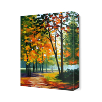 Dekor Sevgisi Ağaçlar2 Canvas Tablo 45x30 cm