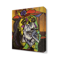 Dekor Sevgisi Ağlayan Kadın Canvas Tablo 45x30 cm