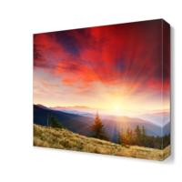 Dekor Sevgisi Gökyüzü ve Dağ Manzarası Canvas Tablo 40x40 cm