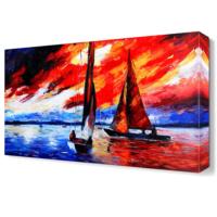 Dekor Sevgisi Akşamüstü Deniz Canvas Tablo 45x30 cm