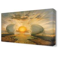 Dekor Sevgisi Salvador Dali Çatlamış Yumurta Canvas Tablo 45x30 cm