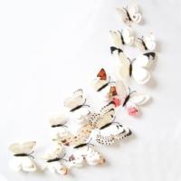 Decor Desing 3D Çift Kanatlı Lüks Kelebek Duvar Ve Perde Dekor Süsü