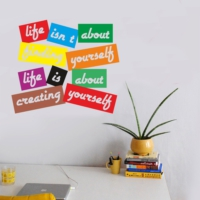 Decor Desing Yazılı Sticker Kon037