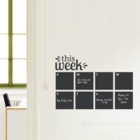 Decor Desing Haftalık Program Yazılabilir Sticker Ys24