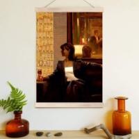Decor Desing Askılı Deri Duvar Posteri Hak155