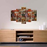 Decor Desing 5 Parçalı Dekoratif Tablo D5Tp08