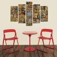 Decor Desing 5 Parçalı Dekoratif Tablo Dec018