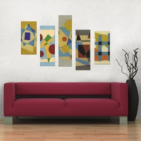 Decor Desing 5 Parçalı Dekoratif Tablo Dec081