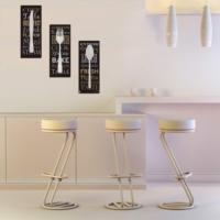 Decor Desing Dekoratif 3'lü Mdf Tablo Xtp172