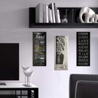 Decor Desing Dekoratif 3'lü Mdf Tablo Xtp176