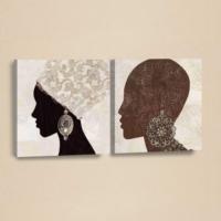 Decor Desing Etnik Desenli 2 Parçalı Kanvas Tablo Chne017