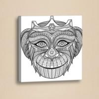 Decor Desing Mandala Boyama Deri Tablo Boy036
