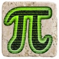 XukX Dizayn Pi Matematik Bardak Altlığı