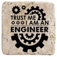 XukX Dizayn Güven Bana Ben Mühendisim Bardak Altlığı-2