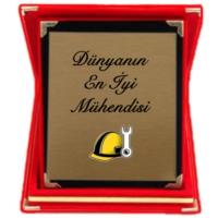 XukX Dizayn Dünyanın En İyi Mühendisi Plaket