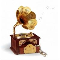 Gramofon Müzik Kutusu Kahverengi